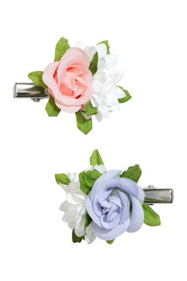 2-pack hair clips - Floral - Kids | H&M