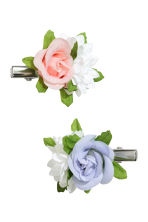 2-pack hair clips - Floral - Kids | H&M CN 1