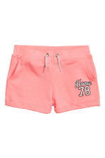 Short van joggingstof - Koraalroze -  | H&M BE 2