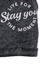 Sweatshirt shorts - Dark grey washed out - Kids | H&M 3