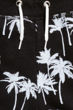 Sweatshirt shorts - Black/Palms -  | H&M CA 3