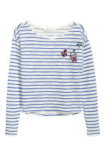 Loose-knit jumper - Blue/White/Striped - Kids | H&M CN 2