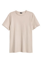 棉質網眼T恤 - Light beige - Men | H&M 1