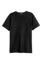 Cotton piqué T-shirt - Black -  | H&M 2