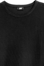 Cotton piqué T-shirt - Black -  | H&M 3