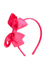 2-pack Alice bands with a bow - Neon pink - Kids | H&M 2
