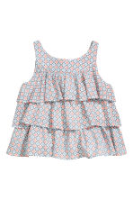 Tiered top - Light blue/Patterned - Kids | H&M CN 2