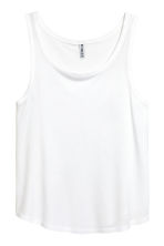 Wide vest top - White - Ladies | H&M 2