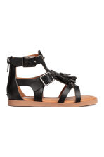 Tasselled sandals - Black - Kids | H&M CN 2