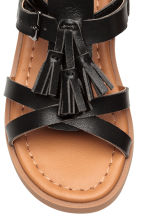 Tasselled sandals - Black - Kids | H&M CN 4