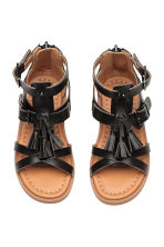 Tasselled sandals - Black - Kids | H&M 3