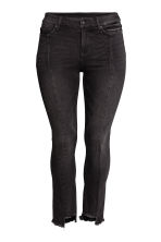 H&M+ Straight Regular Jeans - Black denim - Ladies | H&M 2