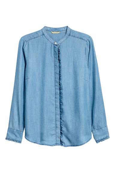 H&M+ Lyocell shirt - Denim blue -  | H&M 1