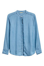 H&M+ Lyocell shirt - Denim blue - Ladies | H&M CN 1