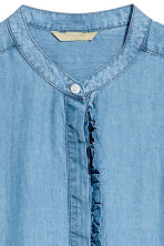H&M+ Lyocell shirt - Denim blue - Ladies | H&M CN 2