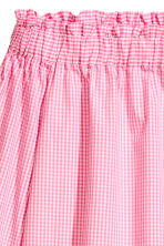 Off-the-shoulder blouse - Pink/White check - Ladies | H&M IE 3