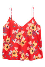 V-neck strappy top - Red/Floral - Ladies | H&M IE 2