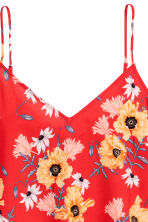 V-neck strappy top - Red/Floral - Ladies | H&M 3