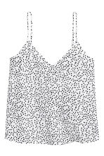 V-neck strappy top - White/Spotted -  | H&M 2