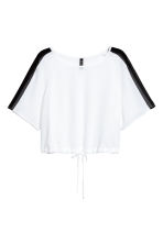 Cropped top - White - Ladies | H&M CN 2