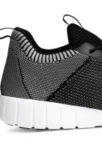 Knitted trainers - Black/Grey - Men | H&M 4