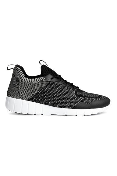 Knitted trainers - Black/Grey - Men | H&M 1
