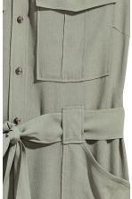 Sleeveless shirt dress - Light khaki - Ladies | H&M CN 3