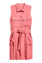 Sleeveless shirt dress - Pink - Ladies | H&M CN 2