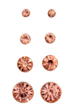 4 pairs earrings - Rose gold - Ladies | H&M 1
