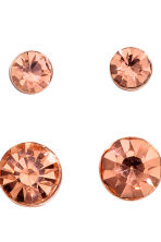 4 pairs earrings - Rose gold - Ladies | H&M 2