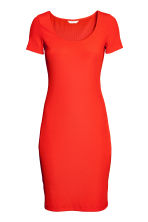 Ribbed jersey dress - Red - Ladies | H&M CN 2