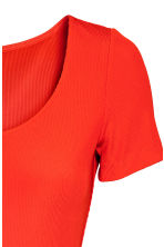 Ribbed jersey dress - Red - Ladies | H&M CN 3