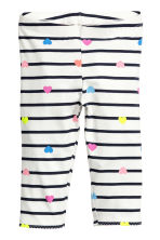 3/4-length leggings - White/Striped - Kids | H&M 2