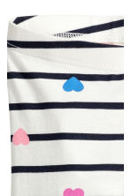 3/4-length leggings - White/Striped - Kids | H&M 3