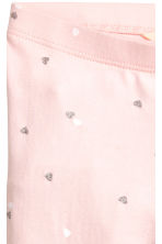 七分內搭褲 - Light pink/Heart - Kids | H&M 3