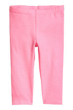 3/4-length leggings - Neon pink marl -  | H&M 2