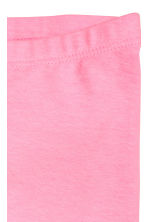 3/4-length leggings - Neon pink marl -  | H&M 3