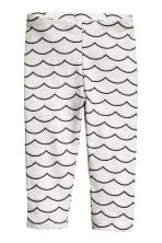 3/4-length leggings - Light grey marl -  | H&M 2