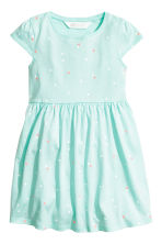 Jersey dress - Mint green/Heart -  | H&M 1