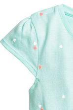 Jersey dress - Mint green/Heart -  | H&M 2