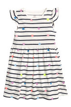 Jersey dress - White/Striped - Kids | H&M 2