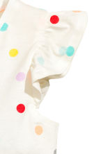 Jersey dress - White/Spotted - Kids | H&M CN 3