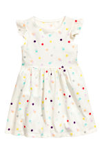 Jersey dress - White/Spotted - Kids | H&M CN 2