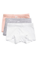 3-pack boxer briefs - White/Spotted - Kids | H&M CN 1