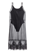 Mesh dress with a body - Black - Ladies | H&M GB 2