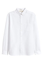Seersucker shirt Regular fit - White - Men | H&M 2