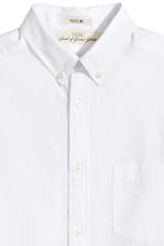 Seersucker shirt Regular fit - White - Men | H&M 3