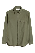 Cotton shirt Regular fit - Khaki green -  | H&M CN 2