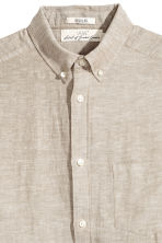 Linen-blend shirt Regular fit - Beige - Men | H&M 2