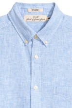 Linen-blend shirt Regular fit - Light blue -  | H&M CN 3